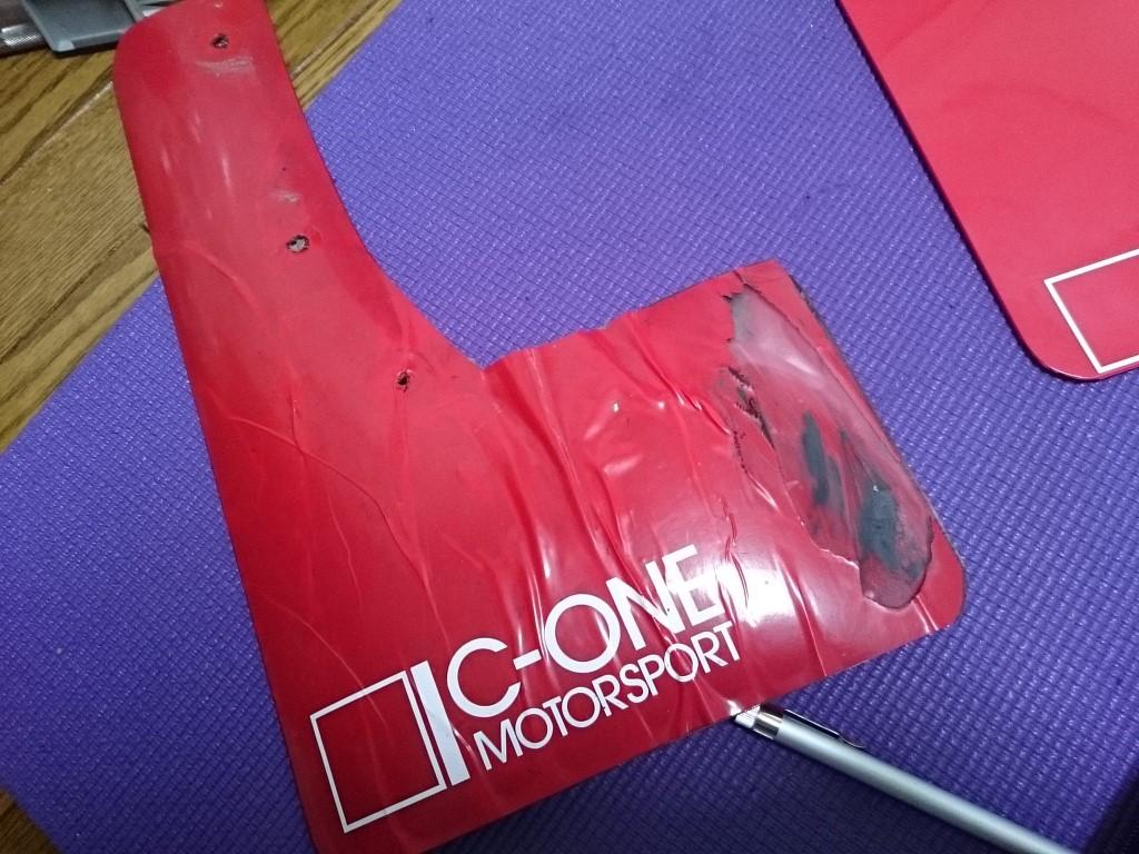【セリカST205】マッドフラップが失敗作だったので、専用素材を使って作り直した【マッドフラップ】